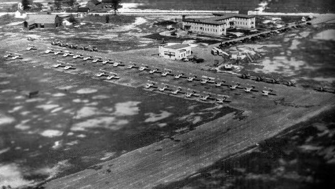 The former Newport Naval Air Station during WWII.