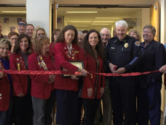 Ribbon-cutting at the new police substation at San Juan College in March