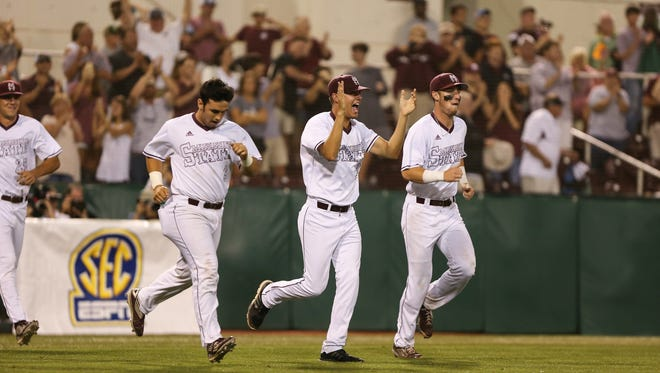 Mississippi State and Louisiana Tech played in the NCAA regional championship game on Sunday, June 5, 2016 at Mississippi State. Photo by Keith Warren