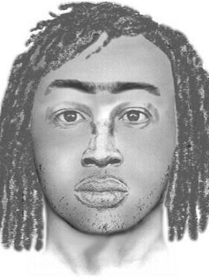 This is a sketch of the suspect being sought by the Glendale Police Department for allegedly sexually assaulting a woman on Oct. 17.