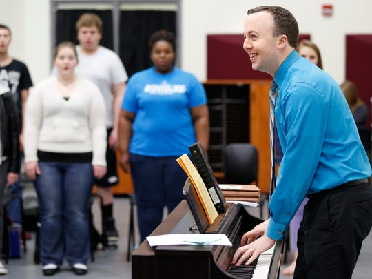 """After filling a part-time position at Jefferson High School, Michael Bennett says he """"fell in love with the energy and the spirit of working with high school students that I never experienced before, and I decided I wanted to do that every day."""""""