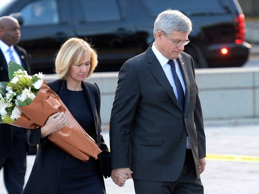 Prime minister stephen harper and his wife laureen visit the