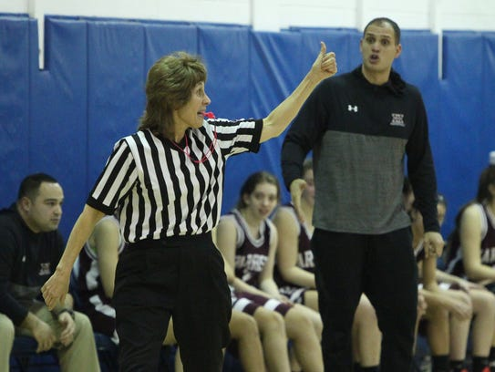 Referee Donna Sporfford during a Section 1 Class A