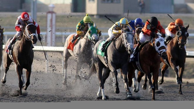 Horse racing at Turfway Park