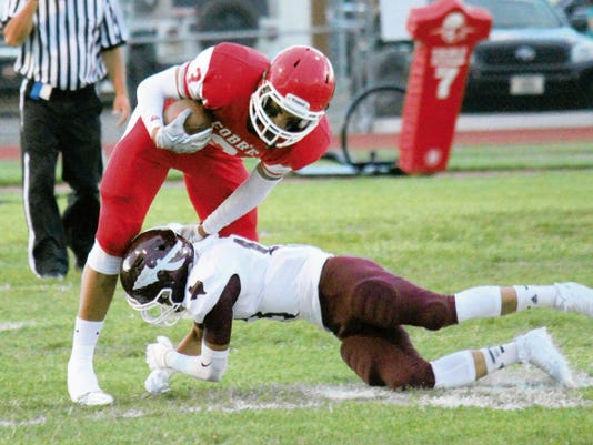 Danny Udero/Sun-News   Cobre's Damon Rivera is going to have to get more involved in the passing game in order to give the Indians an added threat.