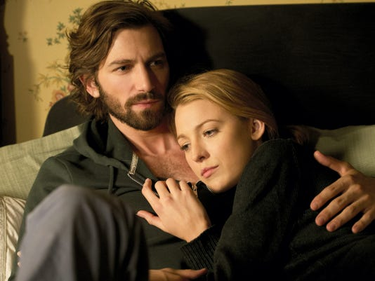 "Michiel Huisman and Blake Lively in ""The Age of Adaline."""