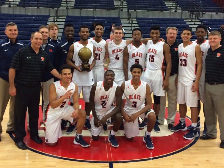 Blackman's boys basketball team won the N2HOOPS Invitational in Huntsville, Ala. on Wednesday.