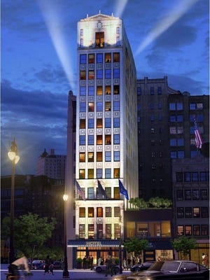 Rendering shows downtown's Wurlitzer Building transformed into a boutique hotel