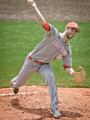 UL pitcher Greg Milhorn delivered a clutch long relief appearance to help the Ragin' Cajuns claim a 12-8 win over Troy in the Sun Belt Conference Tournament on Thursday.