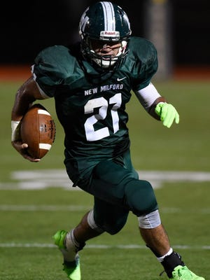 New Milford running back Christian Correa and the second-seeded Knights will play No. 1 Hasbrouck Heights in the North 1, Group 1 championship game Sunday at MetLife Stadium.