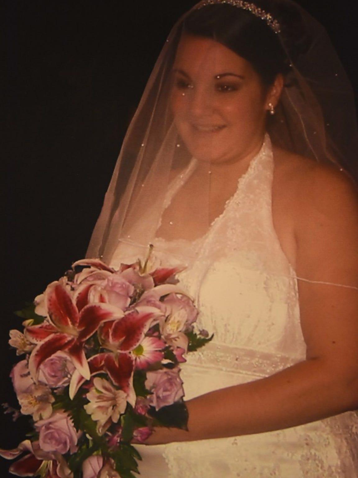 Jody Rilee-Wilson, on her wedding day in 2008.