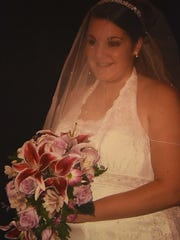 Jody Rilee-Wilson, on her wedding day in 2008.