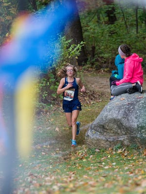 Quabbin's Taylor Masser competes at last year's Quabbin Invitational.