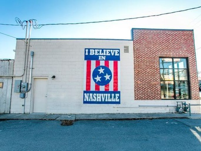 Nashville artist Adrien Saporiti painted his 12South