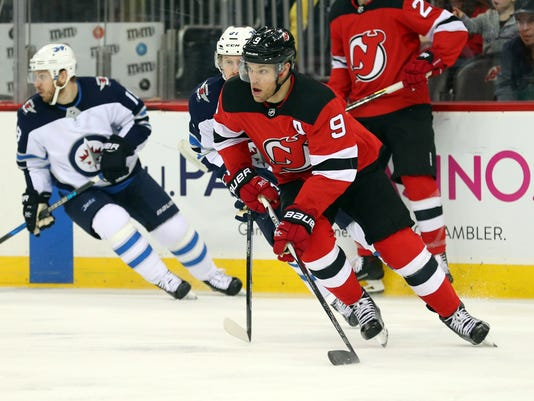 100% authentic a3dd7 f4668 Taylor Hall's scoring streak ends as NJ Devils fall to ...
