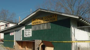 This file photo shows the Benton County Animal Shelter, where several dogs were found dead and other had to be euthanized because of disease in January 2008 at the Benton County Animal Shelter in Camden