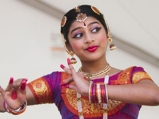 Dancers perform traditional Indian dances during the