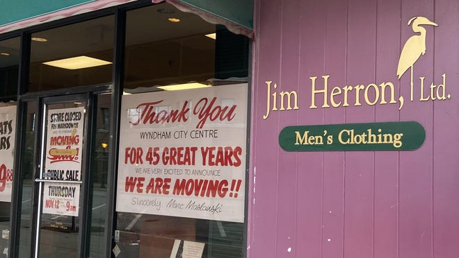 Jim Herron Ltd. has been in the ground floor of the Wyndham since 1985. The men's clothing store will move to The Gables on the west side in January.