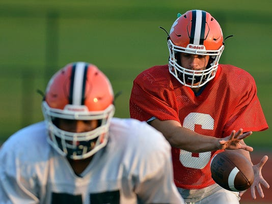 Central York High School quarterback Nik Strine is coming off a strong Week 1 performance in a win against West York.