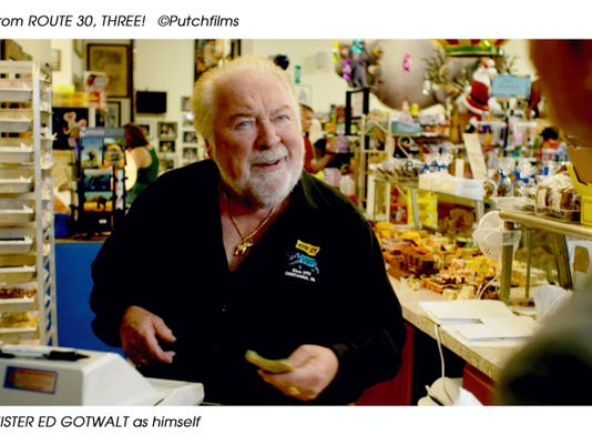 """Ed Gotwalt, owner of Mister Ed's Candy Emporium and Elephant Museum, is featured in all three installments of John Putch's """"Route 30"""" trilogy."""