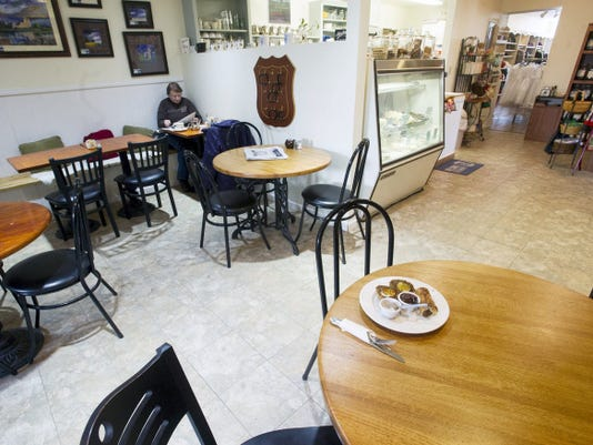 The eating area looking into the kitchen at Oxford Hall in New Cumberland January 28, 2015.  Paul Kuehnel - Daily Record/Sunday News