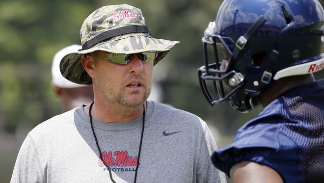 Ole Miss coach Hugh  Freeze said he expected a lot more from Wednesday's practice.