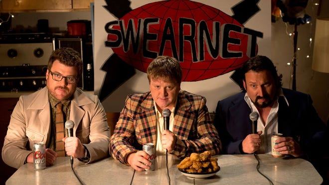 """John Paul Tremblay, Mike Smith, Robb Wells in a scene from """"Swearnet: The Movie."""""""