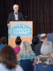 "Keynote speaker Rev. Ted Voorhees talks during the Habitat Community Summit - ""Building Community -Enhancing our Sense of We"" at the Sanders Beach Corinne Jones Resource Center in Pensacola on Wednesday, August 23, 2017."