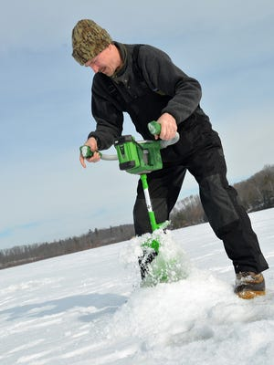 Ardisam's Ion X electric auger is available in 8- or 10-inch models. It's powered by a 5-amp-hour lithium ion battery rated to drill up to 1,600 inches of ice per charge.