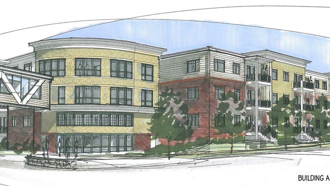 A rendering of the Anchor Point affordable housing project that will be constructed along Sohier Road in Beverly.