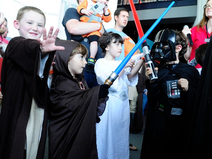 A kids costume contest was part of Star Wars Day at Adventure Science Center on Saturday, May 3, 2014.