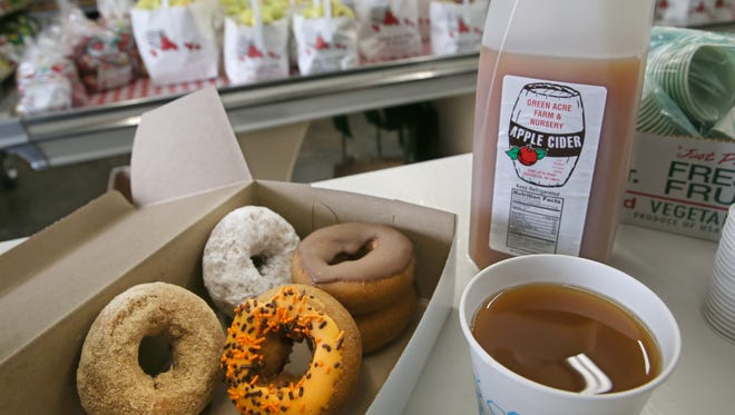 Green Acre Farm and Nursery in Greece makes five kinds of doughuts daily at the farm stand, including orange frosting with sprinkles, chocolate frosting, plain, powered sugar and cinnamon.