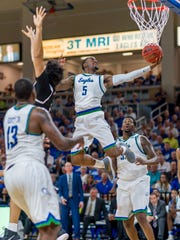 The unexpected departure of rising senior All-ASUN guard Zach Johnson and others put new FGCU coach Michael Fly a bit behind in the recruiting game after taking over on April 5.