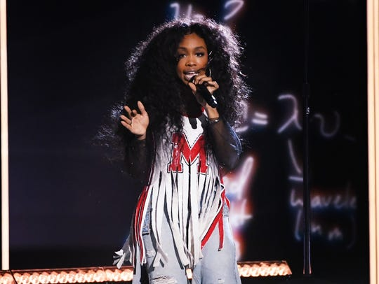 SZA performs onstage during the 60th Annual GRAMMY Awards at Madison Square Garden on Jan. 28, 2018, in New York City.