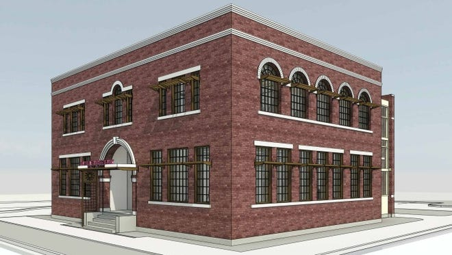 A rendering of improvements being made to 602 West State Street for a new Elmira Savings Bank branch.