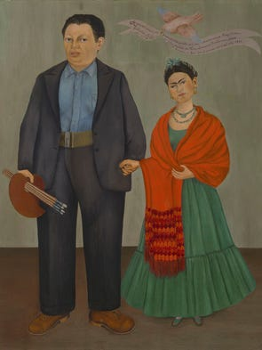Frieda and Diego Rivera, Frida Kahlo, 1931, oil on