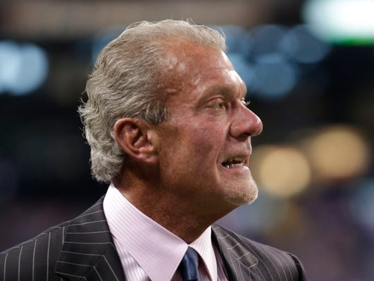 Indianapolis Colts owner Jim Irsay returned to the