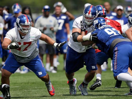 Giants Training Football
