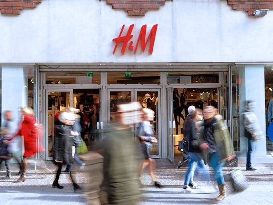 The entrance of H&M on February 24, 2014 in the French