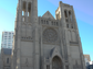 """Grace Cathedral's stunning window illustrates the Twenty-Third Psalm - """"The Lord is my shepherd, I shall not want."""""""