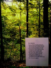 """The poem """"My Cathedral"""" by Henry Wadsworth Longfellow is on the Poetry Walk."""