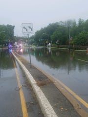Route 46 was closed Saturday morning between Vail and Smith roads in Parsippany due to flooding.