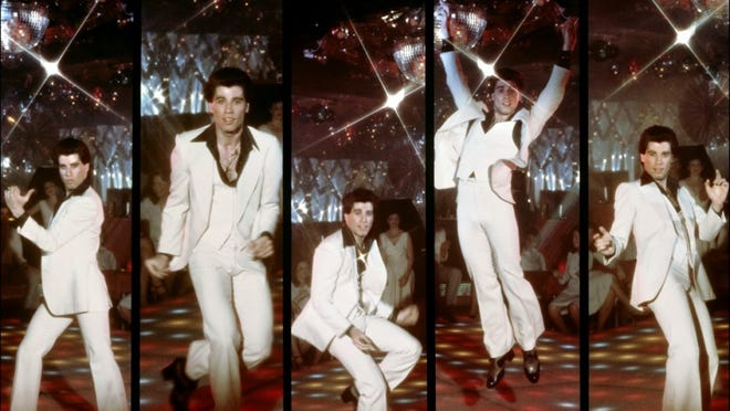 "John Travolta in ""Saturday Night Fever."""