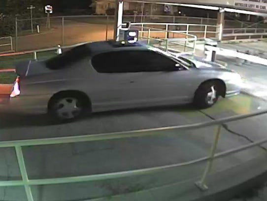 The vehicle believed to belong the suspects in the