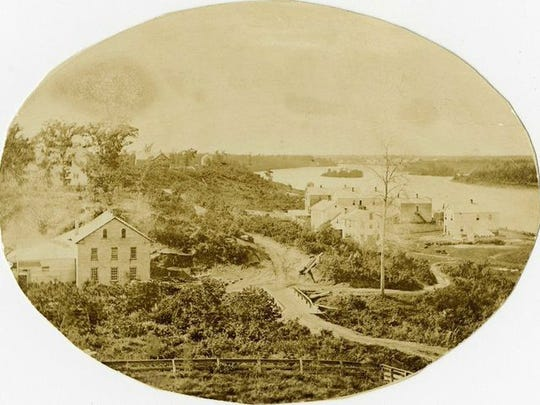 An 1870 aerial picture of the Enderle Brewing Co. which is currently located at the site of Cathedral High School's practice field. The brewery would later become known as Empire Brewing.