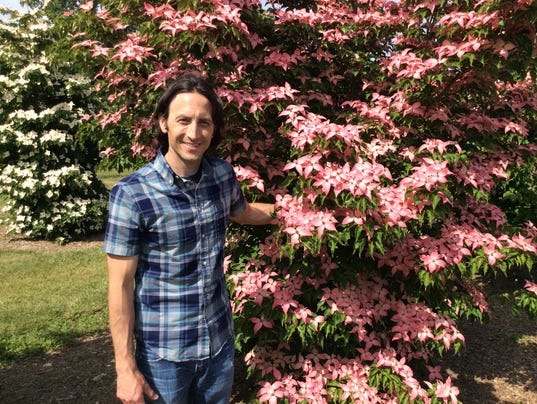 Tom Molnar with Scarlet Fire dogwood