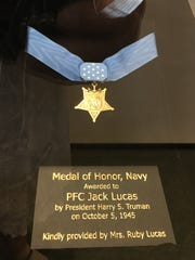 Jack Lucas' Medal of Honor is on display at the Mississippi