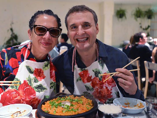 Chef Nancy Silverton, left, and host Phil Rosenthal