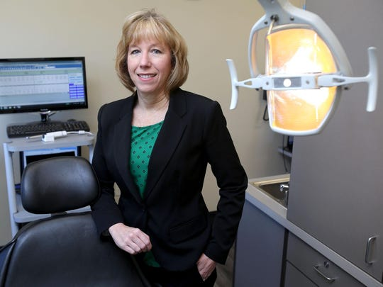 Linda Mann, Director of Community Outreach for Capitol Dental Group, poses for a photo on Friday, Aug. 7, 2015, in Independence, Ore. She is starting a tele-dentistry program with Central School District to increase access to dental services in the rural community.