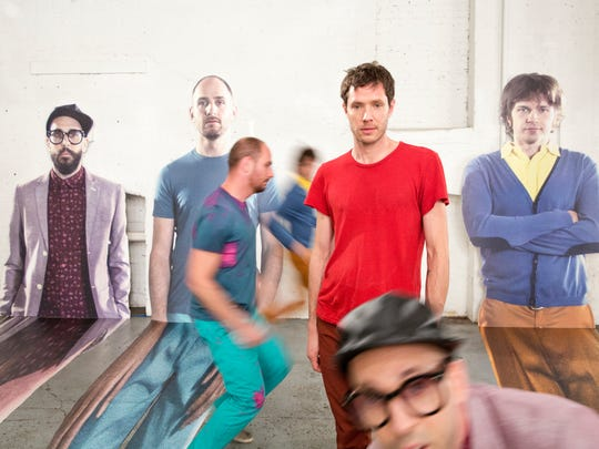 OK GO on the set of The Writing's On The Wall in Brooklyn, New York.
